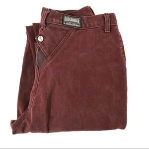Vintage super high waist maroon jeans